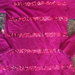 Children's Place Shirts & Tops - Children's Place Purple Sequined Long Sleeve